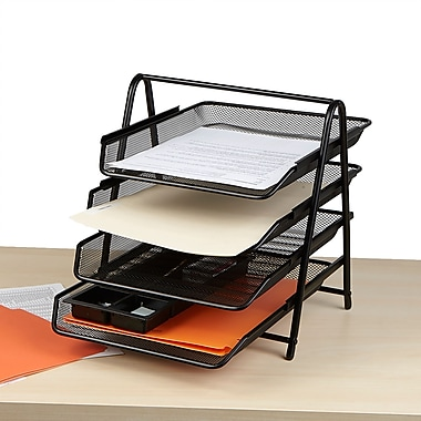organizer tray letter desk amazon black office dp com