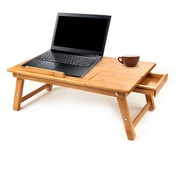 Mind Reader Bamboo Laptop Bed Tray With Cooling, Brown (Cooltraybm-Brn)