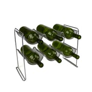 Mind Reader 2 Tier 6 Bottle Stackable Mesh Wine Rack, Clear (WINEMESH6-SIL)