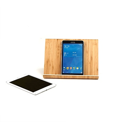 Mind Reader Portable Eco-Friendly Bamboo Tablet Stand Holder, Brown (TABSTAND-BRN)