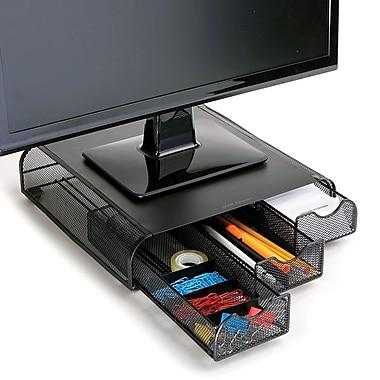 Mind Reader Perch PC, Laptop, iMac Monitor Stand And Desk Organizer, Black Metal Mesh (Monsta3Dmesh-Bl)