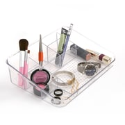 Mind Reader Acrylic 7 Compartment Cosmetic Organizer, Clear (COSFLAP-CLR)