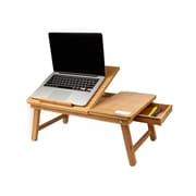 Mind Reader – Plateau de lit en bambou écologique pour ordinateur portatif, brun (BEDTRAYBM-BRN)