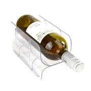 Mind Reader Acrylic 2 Pack Stackable Wine Bottle Holder, Clear (WINESTACK2-CLR)