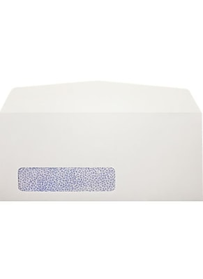 LUX #11 Window Envelopes (4 1/2 x 10 3/8) 500/Pack, 24lb. White w/ Security Tint (43675-ST-500)
