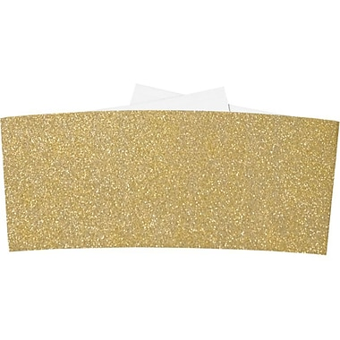 LUX 6 1/4 Belly Bands 1000/Pack, Gold Sparkle (614BB-MS02-1000)