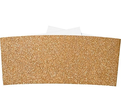 LUX 6 1/4 Belly Bands 50/Pack, Rose Gold Sparkle (614BB-MS03-50)
