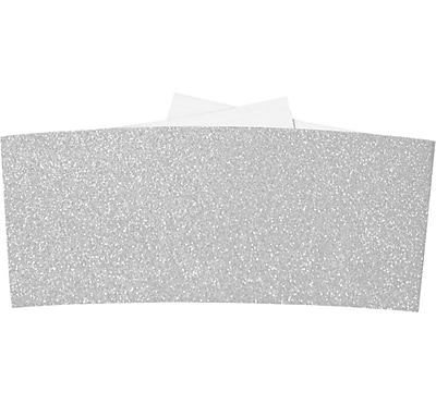 LUX 6 1/4 Belly Bands 50/Pack, Silver Sparkle (614BB-MS01-50)