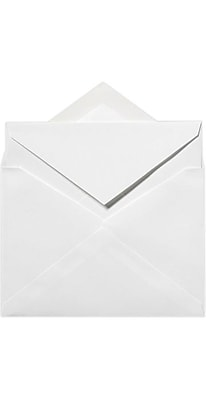 LUX LEE Bar Outer Envelopes (5 1/2 x 7 1/2) 250/Pack, Brilliant White - 100% Cotton (LEEOUTER-SBW500)