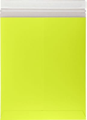 LUX 11 x 13 1/2 Colored Paperboard Mailers 50/Pack, Electric Green (1113PBM-G-50)