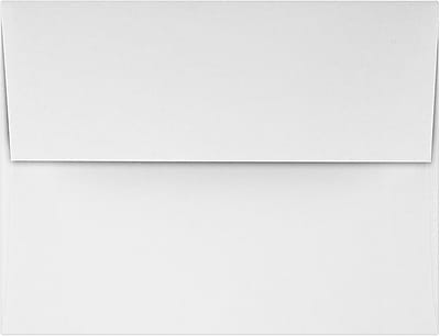 LUX A2 Invitation Envelopes (4 3/8 x 5 3/4) 50/Pack, Rolland Enviro - 70lb. True White (4870-RE70W-50)