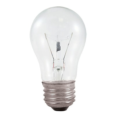 Bulbrite Incandescent (INC) A15 40W Dimmable Appliance Clear 2700K Warm White Light Bulb, 12 Pack (104140)
