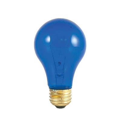 Bulbrite Incandescent (INC) A19 25W Dimmable Party Bulb Transparent Blue Light Bulb, 18 Pack (105325)