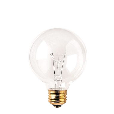 Bulbrite Incandescent (INC) G25 25W Dimmable Clear 2700K Warm White Light Bulb, 24 Pack (393102)