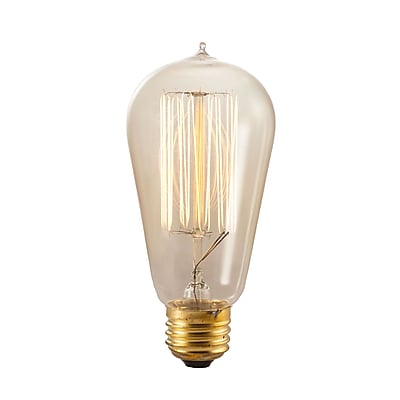 Bulbrite Incandescent (INC) ST18 60W Dimmable Nostalgic 2200K Antique Amber Light Bulb, 4 Pack (136019)