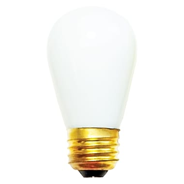 Bulbrite Incandescent (INC) S14 11W Dimmable 2700K Warm White Light Bulb, 25 Pack (701011)
