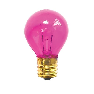 Bulbrite Incandescent (INC) S11 10W Dimmable Transparent Pink Light Bulb, 25 Pack (702610)