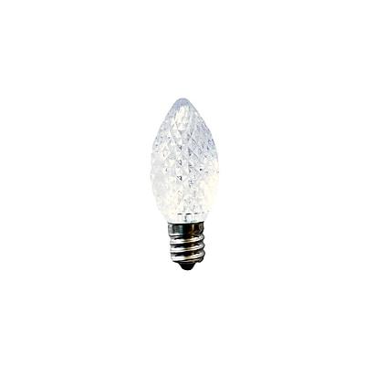 Bulbrite LED C7 0.6W Clear 2700K Warm White Light Bulb, 25 Pack (770171)