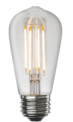 Bulbrite LED ST18 7W Dimmable 2700K Warm White Light Bulb, 2 Pack (776667)