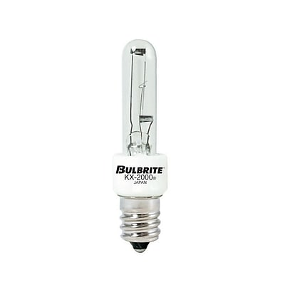 Bulbrite Krypton/Xenon (KX) T3 20W Dimmable Clear 2700K Warm White Light Bulb, 2 Pack (473020)