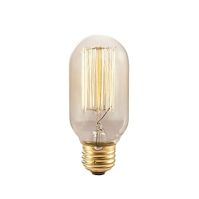 Bulbrite Incandescent (INC) T14 40W Dimmable Nostalgic 2200K Antique Amber Light Bulb, 4 Pack (134015)