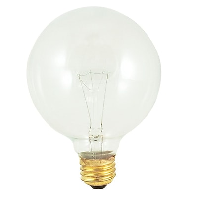 Bulbrite Incandescent (INC) G40 40W Dimmable Clear 2700K Warm White Light Bulb, 12 Pack (351040)