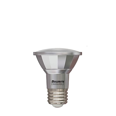 Bulbrite LED PAR20 7W Dimmable Outdoor Rated 2700K Warm White 40D Light Bulb, 2 Pack (772711)
