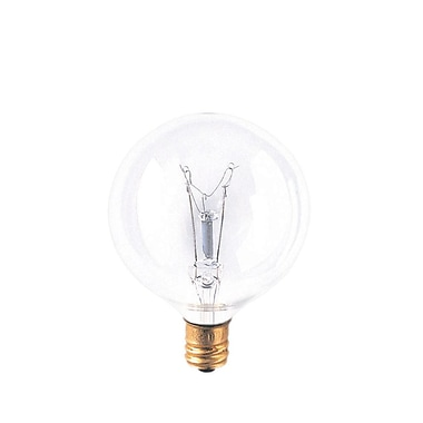 Bulbrite Incandescent (INC) G16.5 40W Dimmable Clear 2700K Warm White Light Bulb, 40 Pack (311040)