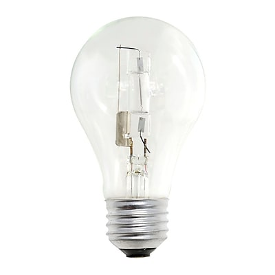 Bulbrite Halogen A19 53W Dimmable Clear 2900K Soft White Light Bulb, 12 Pack (115052)