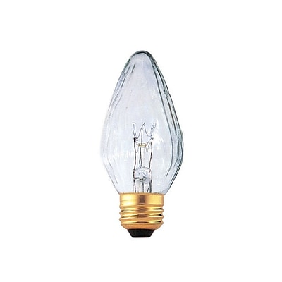 Bulbrite Incandescent (INC) F15 25W Dimmable Fiesta Clear 2700K Warm White Light Bulb, 25 Pack (421125)