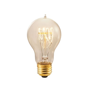 Bulbrite Incandescent (INC) A19 40W Dimmable Nostalgic 2200K Antique Amber Light Bulb, 4 Pack (134020)