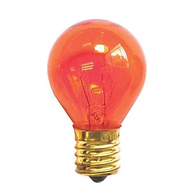 Bulbrite Incandescent (INC) S11 10W Dimmable Transparent Orange Light Bulb, 25 Pack (702510)
