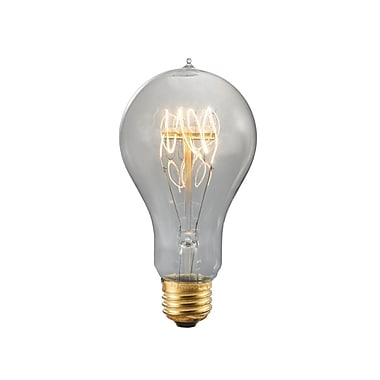Bulbrite Incandescent (INC) A19 60W Dimmable Nostalgic 1800K Smoke Amber Light Bulb, 4 Pack (156020)
