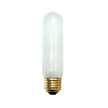 Bulbrite Incandescent (INC) T10 40W Dimmable Frost 2700K Warm White Light Bulb, 25 Pack (704040)