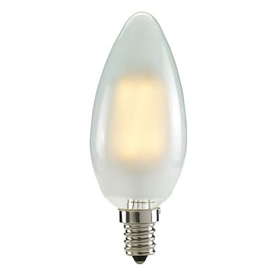 Bulbrite LED B11 2W Dimmable Frost 2700K Warm White Light Bulb, 4 Pack (776568)