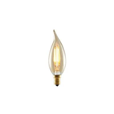 Bulbrite LED CA10 2W Nostalgic 2200K Antique Amber 280D Light Bulb, 4 Pack (776503)