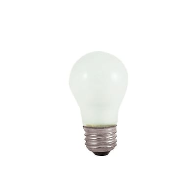 Bulbrite Incandescent (INC) A15 25W Dimmable Appliance Frost 2700K Warm White Light Bulb, 12 Pack (104025)