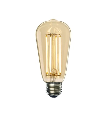 Bulbrite LED ST18 7W Dimmable 2200K Antique Amber Light Bulb, 2 Pack (776609)