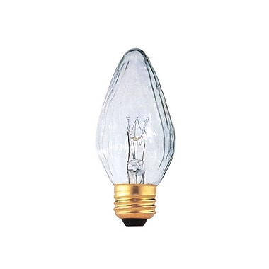 Bulbrite Incandescent (INC) F15 40W Dimmable Fiesta Clear 2700K Warm White Light Bulb, 25 Pack (421140)
