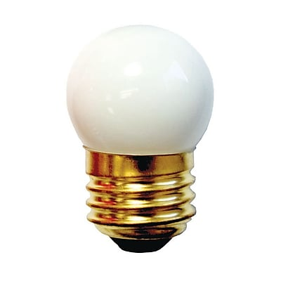 Bulbrite Incandescent (INC) S11 7.5W Dimmable 2700K Ceramic White Light Bulb, 25 Pack (702007)