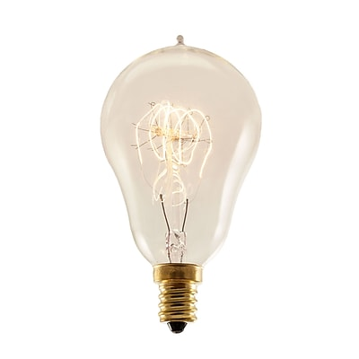 Bulbrite Incandescent (INC) A15 25W Dimmable 2200K Antique Amber Light Bulb, 4 Pack (132516)