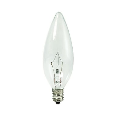 Bulbrite Krypton B8 25W Dimmable Clear 2700K Warm White Light Bulb, 20 Pack (460020)