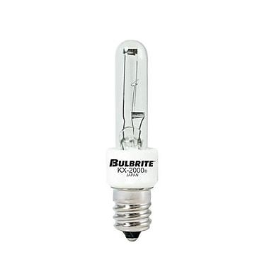 Bulbrite Krypton/Xenon (KX) T3 60W Dimmable Clear 2700K Warm White Light Bulb, 2 Pack (473060)