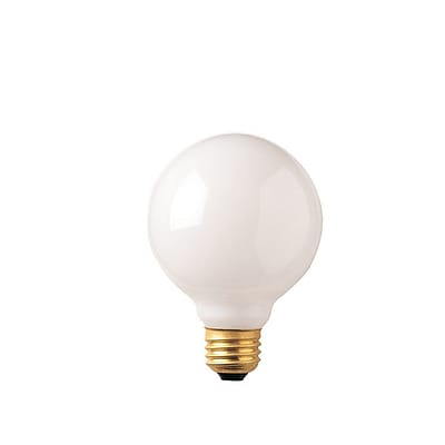 Bulbrite Incandescent (INC) G30 25W Dimmable 2700K Warm White Light Bulb, 12 Pack (340025)