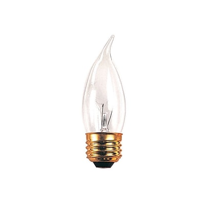 Bulbrite Incandescent (INC) CA10 25W Dimmable Clear 2700K Warm White Light Bulb, 50 Pack (408025)