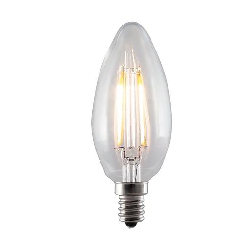 Bulbrite 40w Equivalent Warm White Light B11 Dimmable Led: Bulbrite LED B11 4.5W Dimmable 3000K Warm White Light Bulb