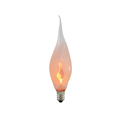 Bulbrite Incandescent (INC) CA5 3W Dimmable Silicone Flame 2700K Warm White Light Bulb, 12 Pack (411003)
