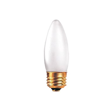 Bulbrite Incandescent (INC) B10 40W Dimmable Frost 2700K Warm White Light Bulb, 50 Pack (406040)