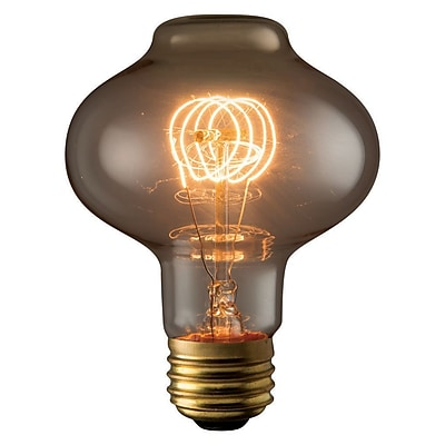 Bulbrite Incandescent (INC) BT27 40W Dimmable Nostalgic 2200K Antique Amber Light Bulb, 4 Pack (132521)