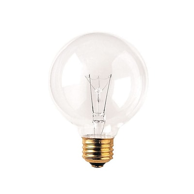 Bulbrite Incandescent (INC) G25 40W Dimmable Clear 2700K Warm White Light Bulb, 24 Pack (393104)